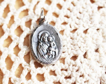 Religious Medal, Silver, Vintage  - 1