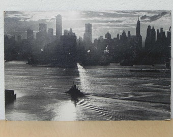 Werner Wolff NY Cityscape Black & White Vintage Photograph on Board