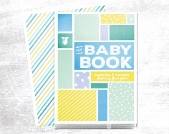 Modern Baby Memory Book // Baby Book // Baby Memory Book // Personalized Baby Book // Baby's First Year Journal