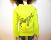 Sale Bright yellow green long sleeve zebra shirt sweater for Taeyang