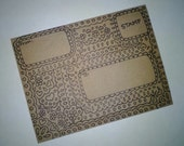 Original illustrated A2 envelope, unique envelope, handmade envelope