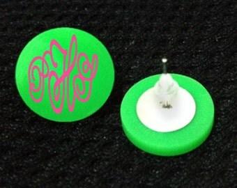 Blank Acrylic Earrings - Personalize Monogram -Add vinyl, stamped image-great  bridesmaid, wedding, birthday, stocking stuffer DIY gifts