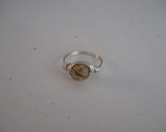 Multi Brown Gemstone Wire Wrapped Ring