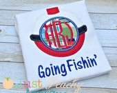 Bobber Monogram Shirt by Rockin' the Tutu - Fishing Shirt