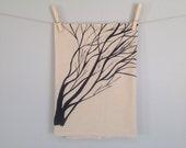 Flour Sack Tea Towel, Dish Towel of Tree Branches