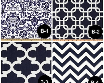 Bridesmaid Clutches Navy Blue and White