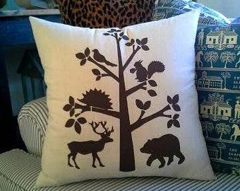 Woodland Creatures  Pillow