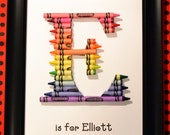 FAST SHIPPING!! Personalized Teacher Letter - Great Teacher Appreciation Gift - Alternating Crayon Ends