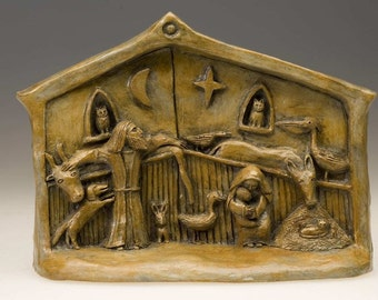 Handmade Nativity with Menagerie