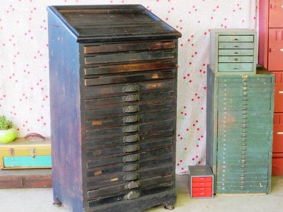 Antique Letterpress Cabinet Antique Wooden Letterpress