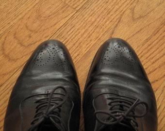 mens vintage Bally medallion toe tuxedo shoe
