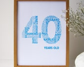 A4 Personalised Special Birthday Print - Personalized Special Birthday Print A4 - Unique Birthday Print