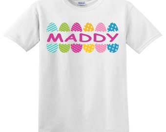 Easter Eggs Personalized with name shirt