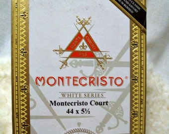 Cigar Box - empty box for crafting - Montecristo - Court - Small White Box