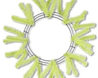 Lime Green Deco Mesh Wreath (24 Inches) XX748837, Poly Mesh Supplies