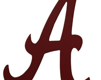 "Crimson Red ""A"", Alabama Wooden Decor AB207030, Football Decor, Sports Wreath Decorations"