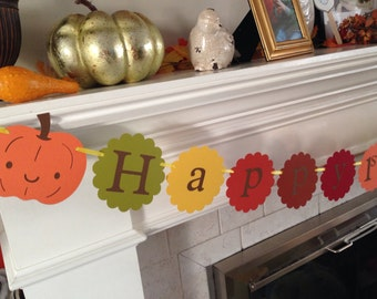 Pumpkin, Thanksgiving birthday, i am 1 banner and happy 1st birthday banner package, holiday, fall decoration, high chair banner,