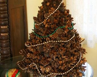 SALE ...   Coastal Shores Rustic Natural Pine Cone Christmas Tree