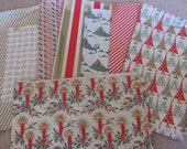 Vintage Retro Wrapping Paper Assorted Lot Scrap Pieces -   Christmas
