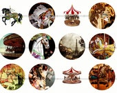 Carousel Magnets, Carousel Horses Pins, MerryGoRound Pins, MerryGoRound Magnets, Fridge Magnets