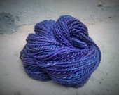 Hand spun wool yarn Lavender - for knitting, 4.3oz 122g- plied- 2 ply - Valentine's day gift