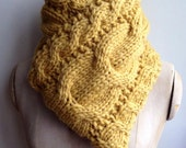 READY TO SHIP Hand Knit Kit Super Chunky Hand Knitted Merino Wool Cable Scarf