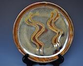 Russet Brown Small Desert Plate Burnt Umber Ceramic Pottery