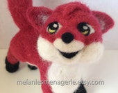 Felted Red Fox with Removable Scarf