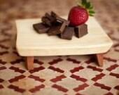 Set of 5 Mini Cutting Boards Dessert Plates Rustic Maple