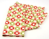 READY TO SHIP! Cloth Napkins 15 Inch Set of 4 in Vintage Modern - Hopscotch in Candy by Bonnie and Camille for Moda Fabrics