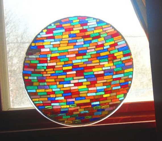 Stained Glass Coffee Table Book: Stained Glass Mosaic Table Top Shelf Decor Coffee Table End