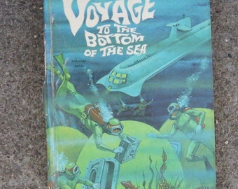 vintage voyage to the bottom of the sea hardcover whitman 1965 adventure book gift idea