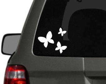 Butterflies Version 2 Vinyl Car Decal BAS-0283