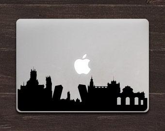 Madrid Skyline Silhouette Vinyl MacBook Decal BAS-0321
