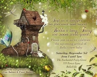 Fairy Baby Shower Invitation, Fairy Party, Fairy Invitations, Fairytale Invitations