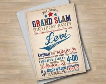 Baseball Birthday Invitation, Baseball Party, Baseball Party Package, Baseball Invite, Baseball Team