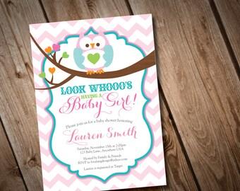 DIY Printable Owl Baby Shower Invitation