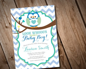 DIY Printable Owl Baby Shower Invitation