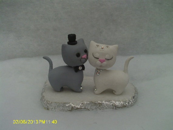 cat bride and groom wedding cake topper cat and groom wedding cake topper 12452