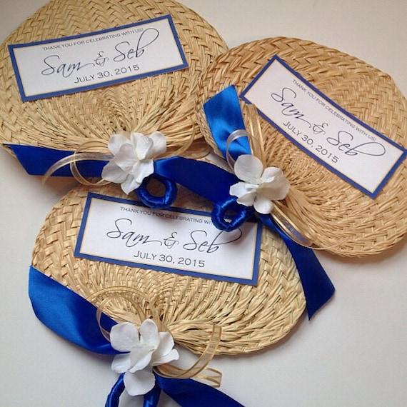Palm leaf hand fans with small tag raffia fans wedding fans for Small tags for wedding favors