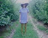 Denim Tunic Dress with Pockets // Perfect Layering Piece