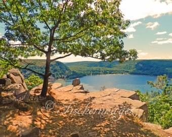 Devils Lake Wisconsin Landscape Nature Wall Art Home Decor Digital Download or Photo Prints Fine Art Photography