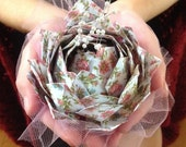 3 Origami Lotus Water Lily Decorations for Wedding or Home