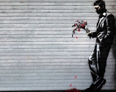 Banksy Canvas (READY TO HANG) - Waiting - Multiple Canvas Sizes