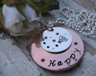 Be Happy Necklace - Whimsical Bee Happy