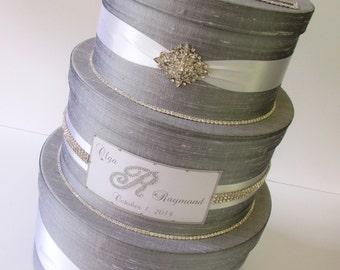 Rhinestone Wedding Card Box Money Box Quinceanera Card Holder Bridal Shower Card Box - Custom Made