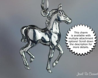 Baby Horse Charm Sterling Silver Foal Colt Filly Equine