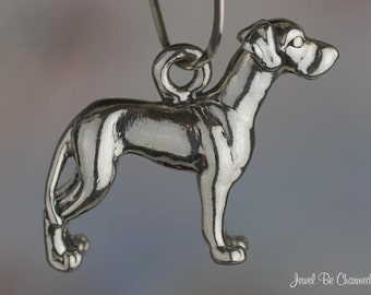 Sterling Silver Great Dane Charm Great Danes Dog Breed 3D Solid .925