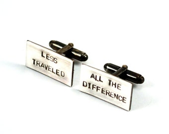 Personalized Cuff Links, Sterling Silver, Custom Cufflinks, Engraved, Wedding Cuff Links