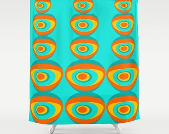 Mod shower curtain | Etsy